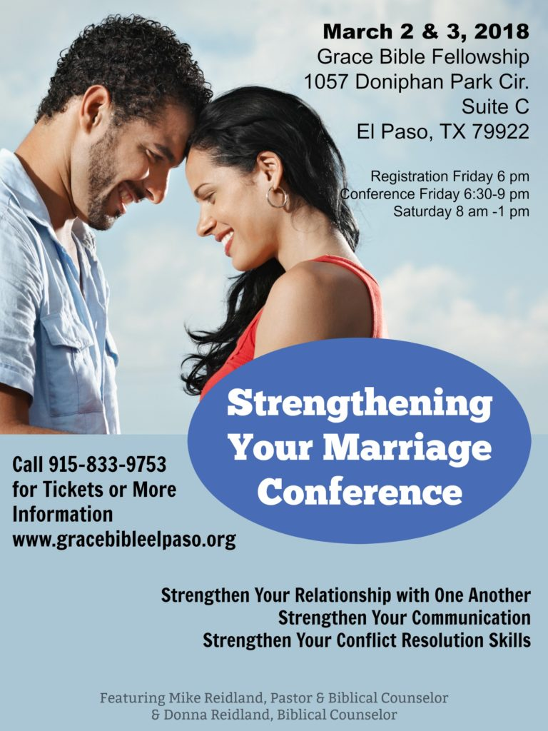 Marriage Conference Starts Tonight Soul Survival